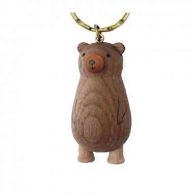 Jean Cultural知音文創 黑熊原木鎖圈-棕熊