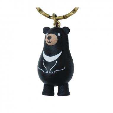 Jean Cultural知音文創 黑熊原木鎖圈-亞洲黑熊