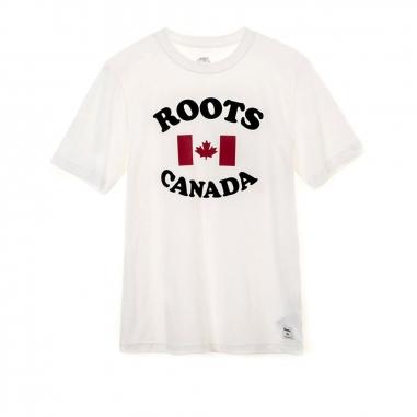 RootsRoots 撞色植絨楓葉短袖T恤