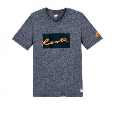 RootsRoots Script格子短袖T恤