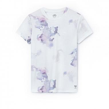RootsRoots 花朵暈染滿版短袖T恤