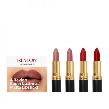Revlon露華濃 麗彩唇膏啞光系列4支裝特惠組