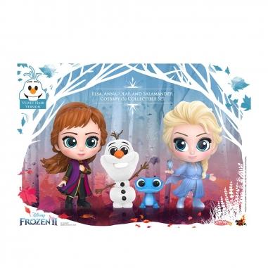 Beast Kingdom野獸國 COSB692 冰雪奇緣2 艾莎 安娜 & 雪寶 火靈 套組