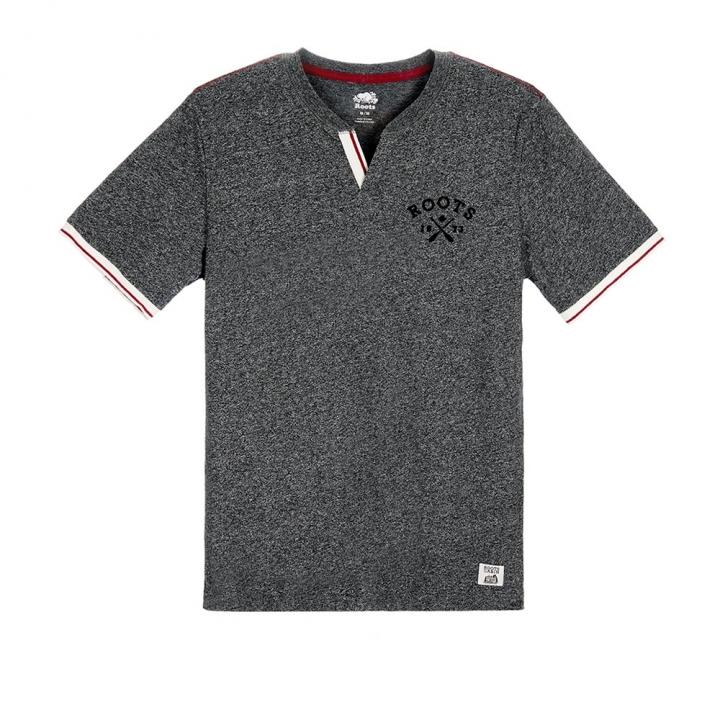 S/S TEE城市小木屋開襟短袖T恤