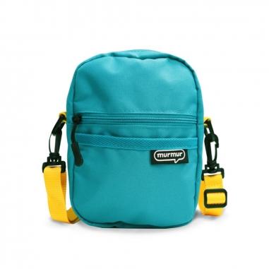 murmurmurmur 旅行兩用隨身斜背包-藍綠