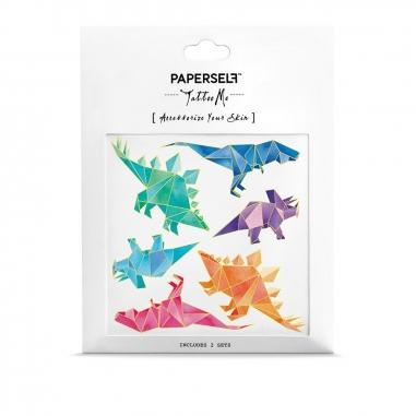 PAPERSELFPAPERSELF 刺青貼紙 幾何恐龍