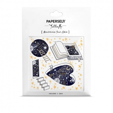 PAPERSELFPAPERSELF 刺青貼紙 探索星空