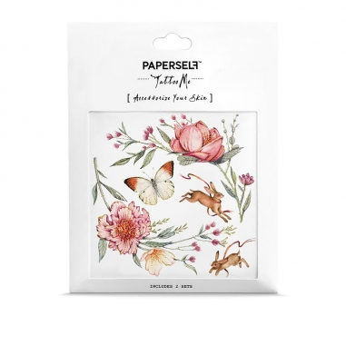 PAPERSELFPAPERSELF 刺青貼紙 乾燥薔薇