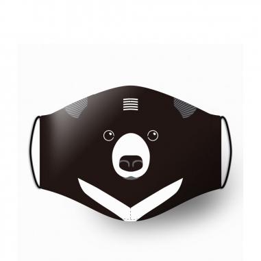 WasangShow花生騷 守護森林Q版黑熊 口罩套
