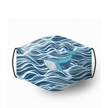 WasangShow花生騷 海洋WAWA鯨魚浪潮 口罩套