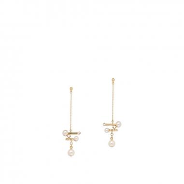 GrosseGrosse Pearl Light 玫瑰金耳環