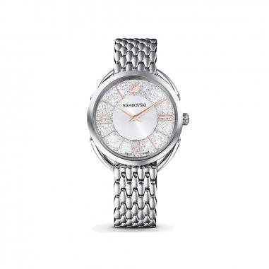 Swarovski施華洛世奇 GLAM 銀框白面鍊錶