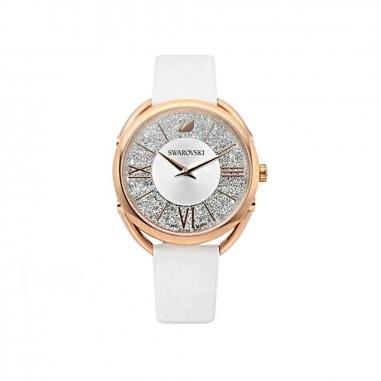 Swarovski施華洛世奇 GLAM RG框白面白皮錶