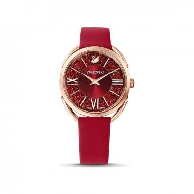 Swarovski施華洛世奇 Glam RG框紅晶面紅皮錶