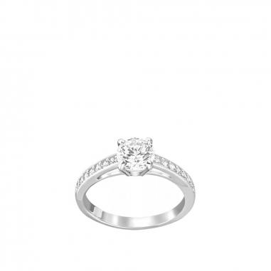 Swarovski施華洛世奇 Attract爪鑲單圓晶戒指