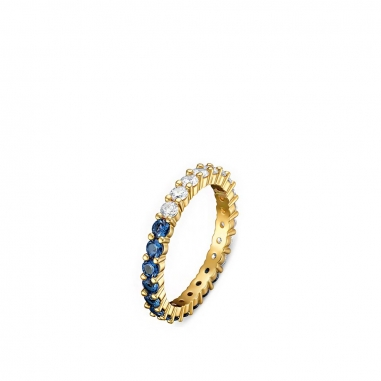 Swarovski施華洛世奇 Vittore鑲白藍晶金戒
