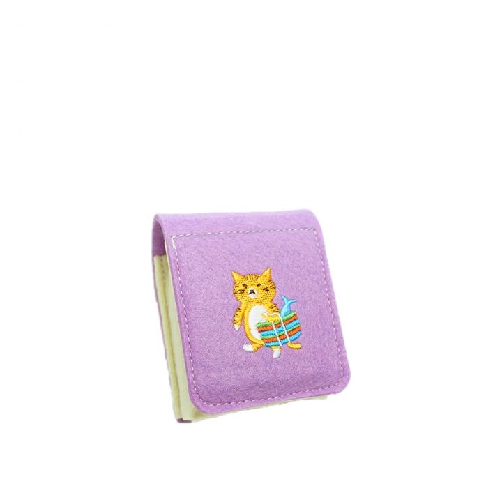 刺繡小物盒 橘貓與茄芷袋