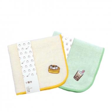 娜吉小物娜吉小物 刺繡小方巾 珍珠奶茶+小籠包