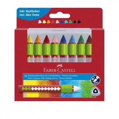 Faber-Castell輝柏 創意水溶性蠟筆10色