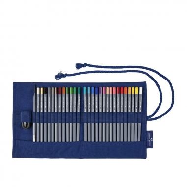 Faber-Castell輝柏 帆布筆袋+27色水性色鉛筆