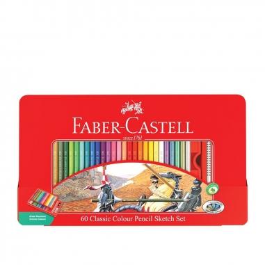 Faber-Castell輝柏 60色油性色鉛筆鐵盒(騎士)