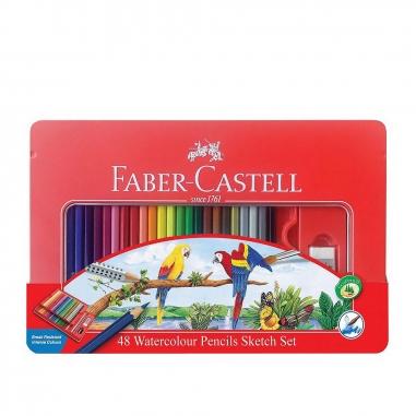 Faber-Castell輝柏 48色水彩色鉛筆鐵盒
