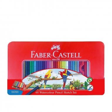 Faber-Castell輝柏 60色水性色鉛筆鐵盒(鸚鵡)