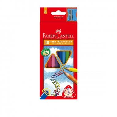 Faber-Castell輝柏 大三角彩色鉛筆3.3mm 20色