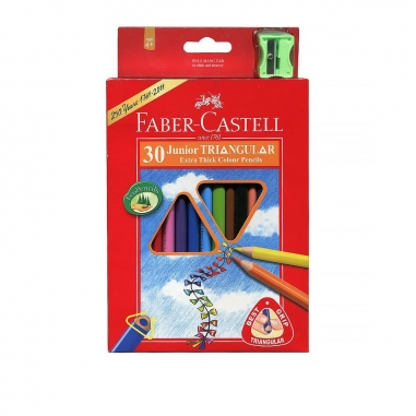 Faber-Castell輝柏 大三角彩色鉛筆3.3mm 30色