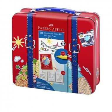 Faber-Castell輝柏 旅行箱造型連接筆40色