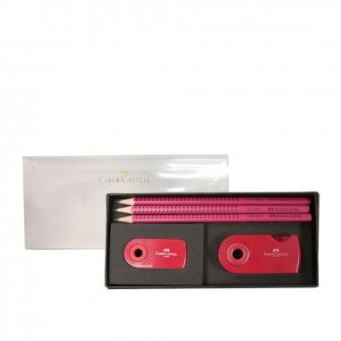 Faber-Castell輝柏 GRIP2001鉛筆3入禮盒組3色(顏色隨機不挑款)