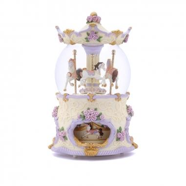 JARLL ART讚爾藝術 遊樂馬水晶球 紫