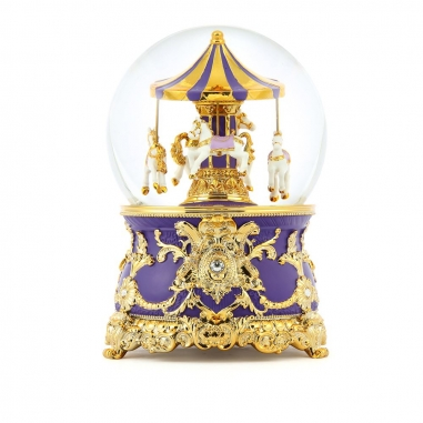 JARLL ART讚爾藝術 旋轉木馬水晶球 金紫