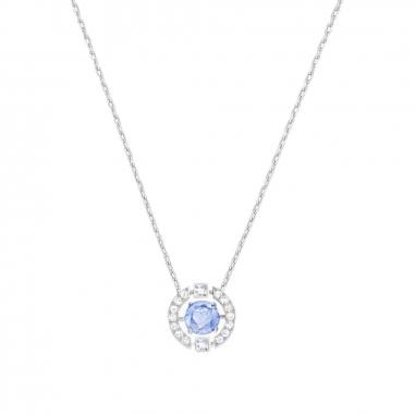Swarovski施華洛世奇 Sparkling DC鑲藍鋯石項鍊