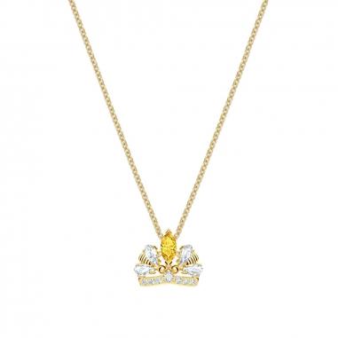 Swarovski施華洛世奇 BeeAQueen鑲晶皇冠金項鍊