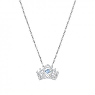 Swarovski施華洛世奇 BeeAQueen藍晶皇冠項鍊