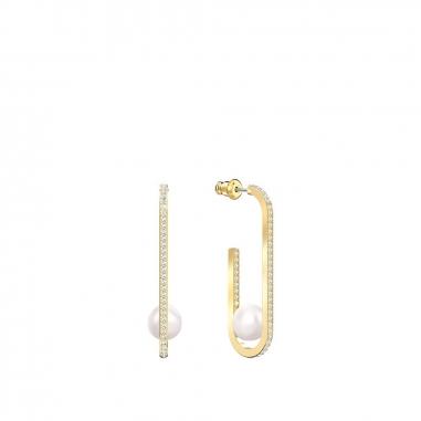 Swarovski施華洛世奇 SoCool鑲珍珠U型金耳環