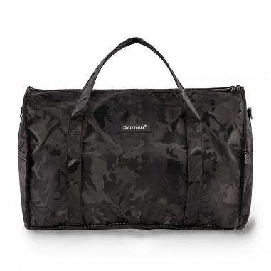 murmurmurmur murmur折疊旅行袋(中)迷彩黑