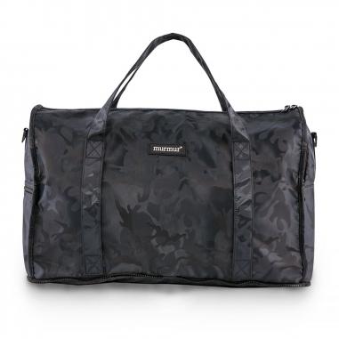 murmurmurmur murmur折疊旅行袋(中)迷彩藍