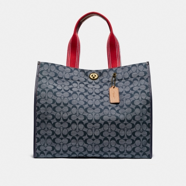 Coach蔻馳(精品) CANVAS TOTE 40肩背包