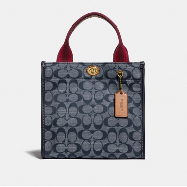 Coach蔻馳(精品) CANVAS TOTE 22肩背包