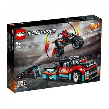 LEGO樂高 LEGO特技表演卡車摩托車