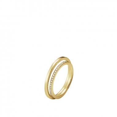 Georg Jensen喬治傑生 Halo 18K黃金鑲鑽戒指