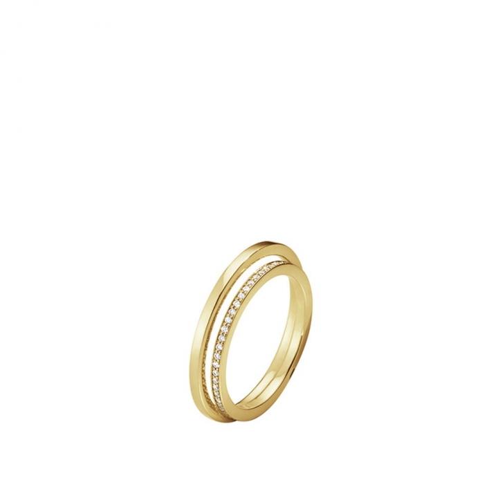 Halo 18K Yellow Gold Diamond RingHalo 18K黃金鑲鑽戒指